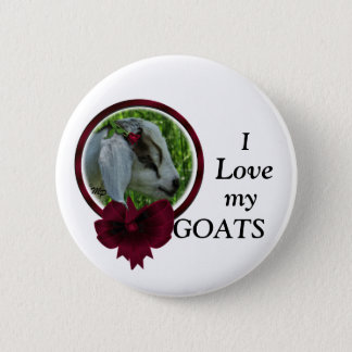 Goat Kid & bow- personalize 2 Inch Round Button