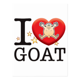 Goat Love Man Postcard