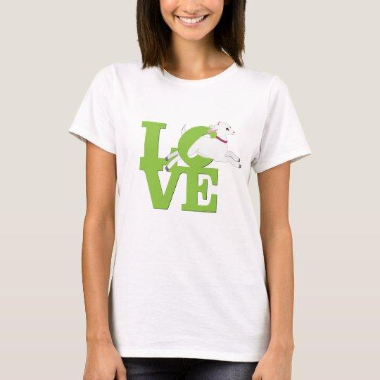 GOAT LOVER | LIME GREEN Goat L O V E - White Goat T-Shirt