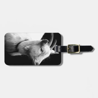 goat luggage tag