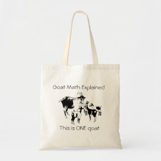 Goat Math Explained Tote Bag