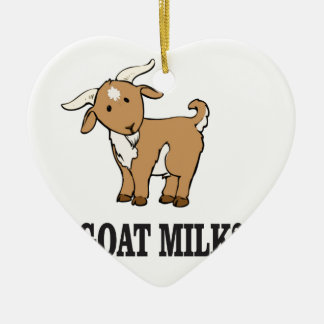 goat milk? ceramic ornament