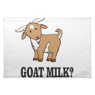 goat milk? placemat
