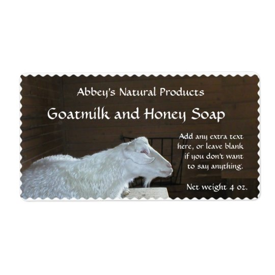 Goat Milk Soap Label - customizable Shipping Label