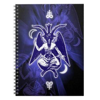 Goat of Mendes Baphomet & Satanic Crosses Notebooks