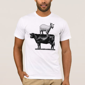 Goat on Cow T-Shirt