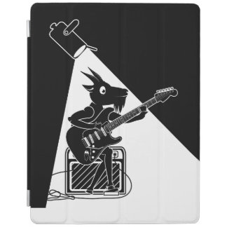Goat playing an electric guitar iPad cover