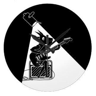 Goat playing an guitar large clock