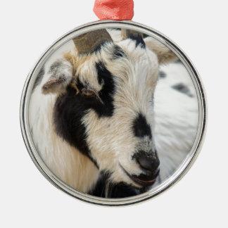 Goat portrait metal ornament