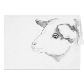 Goat profile greeting card by Nicole Janes