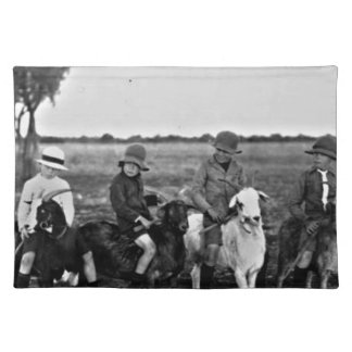 Goat Riders of the past Placemat