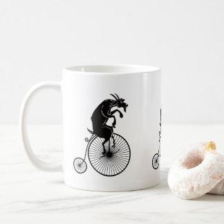 Goat Riding a Penny Farthing Bike Coffee Mug