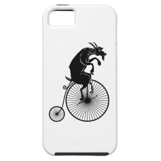 Goat Riding a Vintage Penny Farthing Bike iPhone 5 Cases