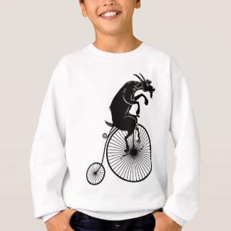 Goat Riding a Vintage Penny Farthing Bike Sweatshirt