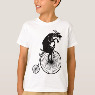 Goat Riding a Vintage Penny Farthing Bike T-Shirt