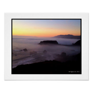 Goat Rock Sunset Photo (20 x 16) Print