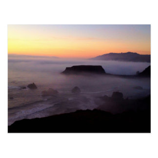 Goat Rock Sunset Photo Postcard
