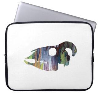 Goat Skull Art Laptop Sleeve