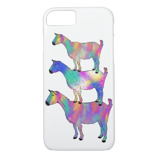 Goat Standing on Goat Funny Psychedelic Animal Art iPhone 8/7 Case