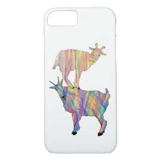 Goat Standing on Things Psychedelic Animal Art iPhone 8/7 Case