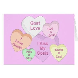 Goat Valentine Hearts Card