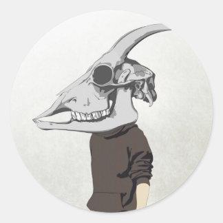goathead classic round sticker