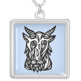 """""""GoatHead"""" Sterling Silver Necklace"""