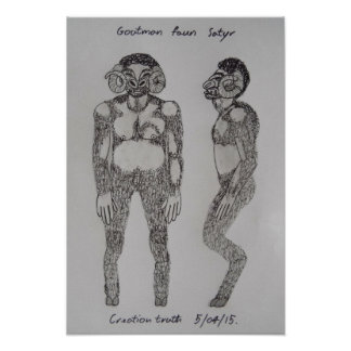 Goatman faun satyr sketch poster