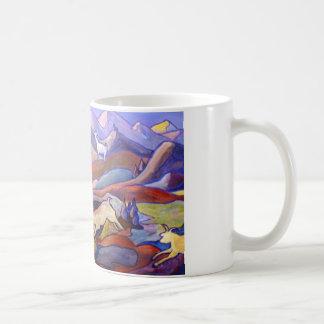 Goats and mountains coffee mug
