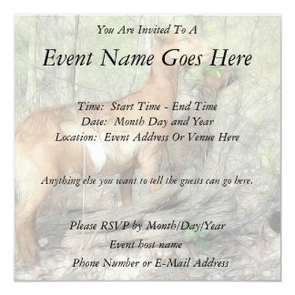 """Goats At Work 5.25"""" Square Invitation Card"""