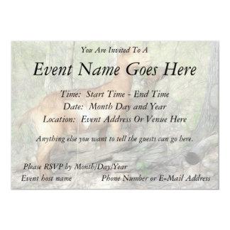 "Goats At Work 5"" X 7"" Invitation Card"