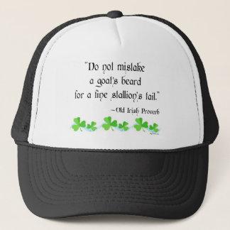 Goat's beard trucker hat