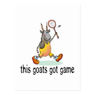 Goats Got Game Postcard