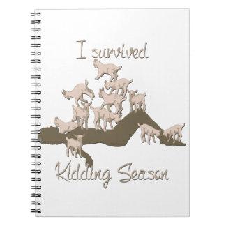 GOATS | I Survived Kidding Season by GetYerGoat Spiral Notebook