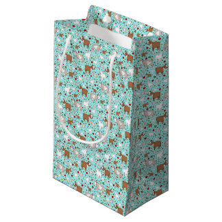 Goats in Blue Small Gift Bag