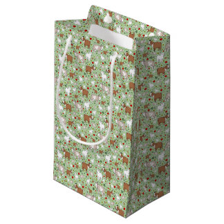 Goats in Green Small Gift Bag