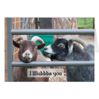 Goats in Love Card