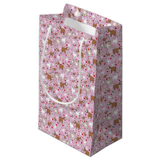 Goats in Pink Small Gift Bag