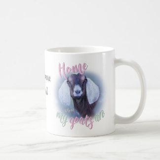 GOATS | Nubian Home is Where MY Goats Are Coffee Mug