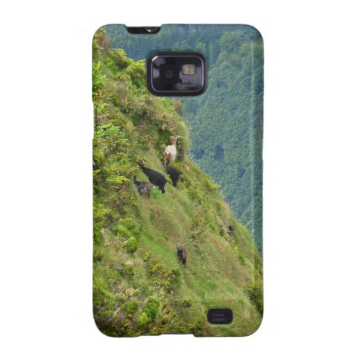 Goats on a very steep hillside samsung galaxy s2 cover