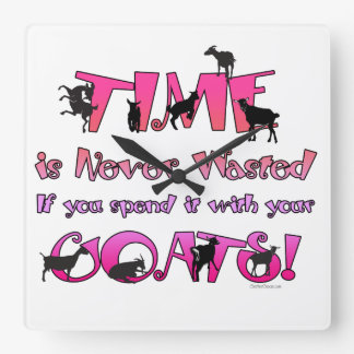 Goats | Time is Never Wasted |GetYerGoat Wall Clocks