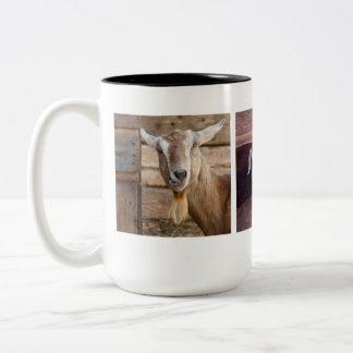 Goats Two-Tone Coffee Mug
