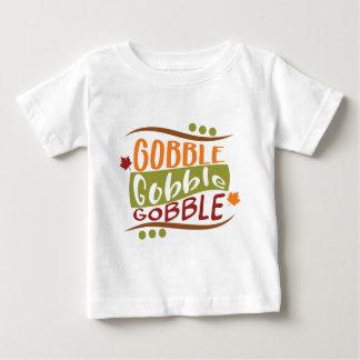 Gobble Gobble Gobble Thanksgiving Design Baby T-Shirt