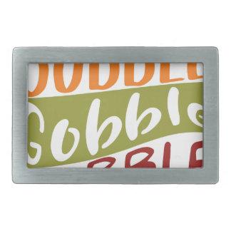 Gobble Gobble Gobble Thanksgiving Design Belt Buckle