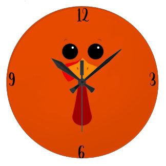Gobble Gobble Large Clock