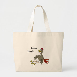 Gobble Gobble Large Tote Bag