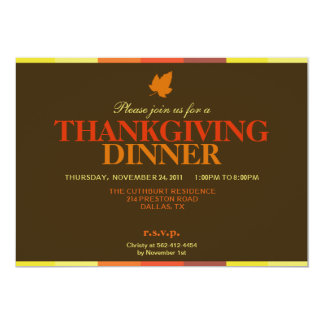 Gobble Gobble Multicolored Thanksgiving Invitation