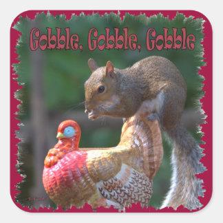 Gobble Gobble Square Sticker