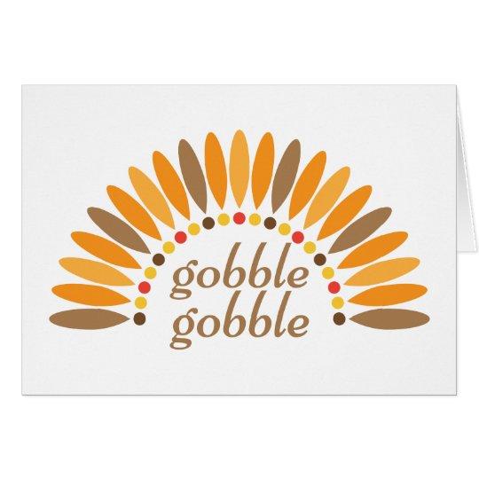 Gobble Gobble Thanksgiving Blank Note Card
