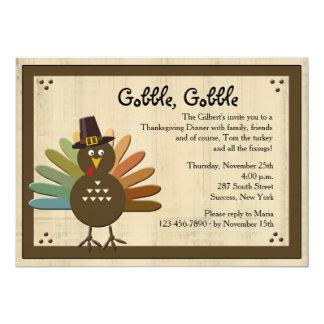 Gobble, Gobble Thanksgiving Dinner Invitation